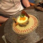 L'entrée plat principal fromage et dessert un vrai régal très bine prestations merci on c'est ré