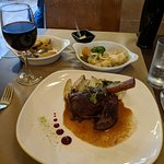 Delicious lamb shank and well presented