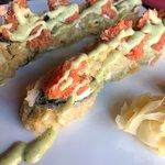 """""""Redskins"""" sushi roll (ugh)"""