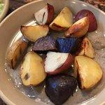 roast potato appetizer - not good, sauce very odd, potatoes not crunchy