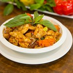 Chilli Chicken with Basil