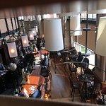 View of restaurant below