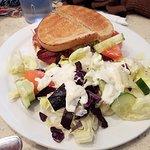 Reuben Sandwich Platter with salad