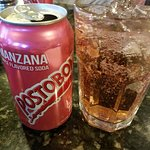 My non-alcoholic choice of beverage! MANZANA, yes it's an apple flavored soda DELISH!