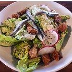 Shrimp bit & Ceasar at Foundation Social Eatery