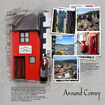 Scrapbook page of our visit to the Smallest House in Great Britain