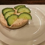 Smoked Salmon Cream Cheese with cucumber