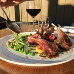 Come and enjoy our rack of Canterbury lamb with a nice glass of wine and a lot of love !