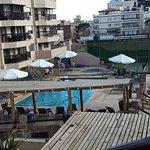 desde nuestra habitación se veían las piscinas