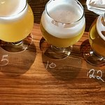 A 'flight' of beer.