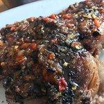 Steak with spicy salsas