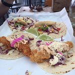 Chicken and fish tacos