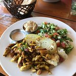 Shawarma (chicken) Plate, served with fresh house made pita.