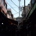 From the market, you can see Busan Tower