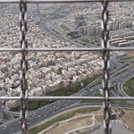 View outside from Milad Tower outside facing one of the angles of the city.