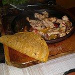 Gluten free alternative, corn fajita with chicken and spices