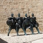 Modern sculpture of the knights