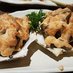 Scallop with mushrooms and cheese