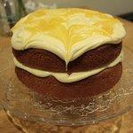 Sticky Lemon curd cake