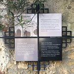 Placa identificativa da Igreja de Santa Maria, Castelo de Palmela