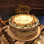 Rustic Birthday Cake by Manna Pot Catering!