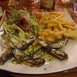 Sardines et leur accompagnement