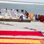 Washing place on the ganges