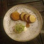 Teriyaki sweet potato with goats yoghurt