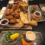 Sharing platter with a few small plates