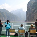 On board the Yangtze Gold 7 as we go through one of the gorges.