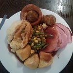 i had the gammon which is cooked in coke cinnamon and brown sugar with star-anise