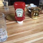 classy serving of ketchup