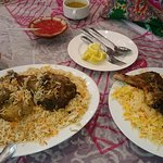 grilled chicken and lamb kabsa