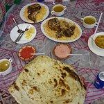 massive naan bigger than the kabsa platter