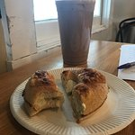 This was my order: an asiago bagel with cream cheese and a large iced chai- super tasty!