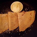 Palecinke - crepes with lemon and cream.