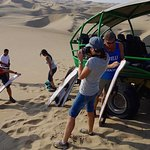 Huacachina oasis buggy and sandboarding tour from Nazca