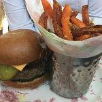 Burger W/ Sweet Potato Fries