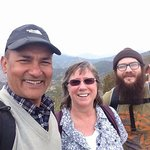 A selfie with my travel partner, and out guide from Himkala Adventures on top of Namobuddha
