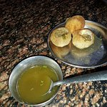 Golgappa taste is not that great but serving style is unique