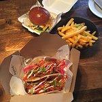 Tacos and cheeseburger