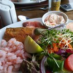 The fish ploughmans was delicious - couldn't quite do it justice