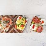 Salmon sandwich, King Shepherd sandwich with omelet, Mozzarella sandwich with avocado!