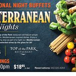 Theme nights at Top of the Park Restaurant, located at Redshores, Charlottetown.