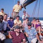 Family sail on board Nefertiti