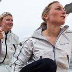 Girls sailing team at the helm