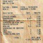 Nota de Consumisión.