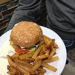 Gambas à la carte à volonté  Et hamburger en suggestion du chef