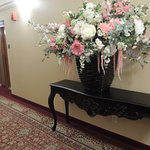 Hall flowers and furnishings
