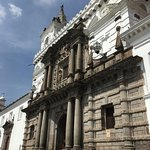 Iglesia de San Francisco, Quito - View along the front of the Church.